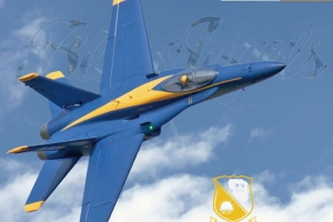 Freewing F/A-18C Hornet Blue Angels 90mm EDF Jet PNP RC Airplane