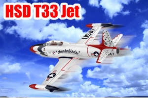 HSD T-33 Foam Jet Shooting Star Turbine version in two color schemes PNP GST Inc (Pre order Only)