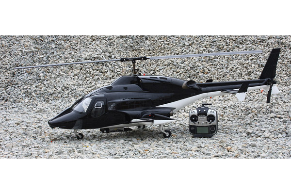 Roban Airwolf 800 size Black Helicopter-ARF w/3x Missiles included