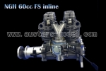 NGH 60cc FSI Inline Engine for 50cc Warbirds P51/P40, Hawk Typhoon etc